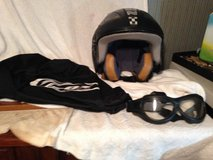 ZOX Motorcycle helmet with goggles and bag in Fort Campbell, Kentucky
