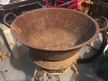 ANTIQUE GALVANIZED STEEL BOWL PLANTER in Lockport, Illinois