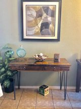 AMAZING solid wood rustic table (desk) with drawer metal legs in Fort Bliss, Texas