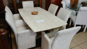 Granit Top Dinning Table w/ Chairs in Kansas City, Missouri