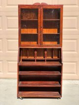 Vintage Curio Hutch / Cabinet on Wheels in Travis AFB, California