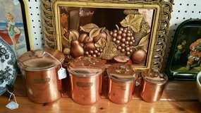 Set of 4 Copper Cannisters in Byron, Georgia