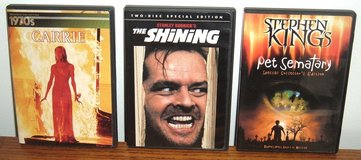 RARE Stephen King DVD Lot The Shining Carrie w Bonus 1970s Decade CD Collection Pet Sematary in Oswego, Illinois
