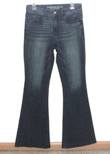 Womens 8 American Eagle Hi Rise Artist SUPER Stretch Flare Jeans in Joliet, Illinois