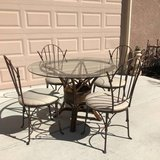 5-Pc Glass Top Dining Set in Travis AFB, California