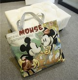 NEW Disney Mickey Mouse Womens Textured Canvas Book Shoulder Bag Handbag Shopping Bag Hobo Bag L... in Morris, Illinois