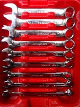 Snap On 9 pc 12-point SAE Flank Drive Short Combination Wrench Set OEX in The Woodlands, Texas