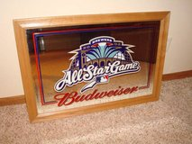 MILWAUKEE BREWERS BUDWEISER Beer Wood Framed Mirror Sign 2002 All Star in Brookfield, Wisconsin