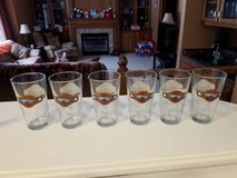 "MINT ""6"" Milwaukee Brewers Miller Park Logo 2-Sided Pint Glasses NOS in Brookfield, Wisconsin"