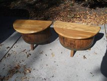REDUCEDset of barrel unique end tables in Tinley Park, Illinois