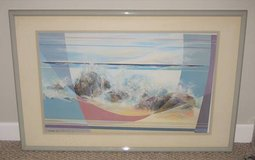 ART - Mary Ann Ginter Matted & Framed Lithograph Print - L.E. - Signed in Aurora, Illinois