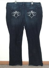 Womens Plus 24W Medium Lee SLENDER Secret Lower On The Waist Boot Cut Jeans  Stretch in Morris, Illinois