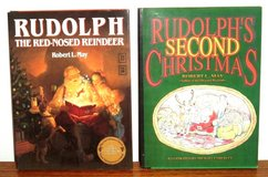 RARE Vintage 1990's Rudolph The Red Nose Reindeer & Rudolphs Second Christmas Hard Cover Books w... in Oswego, Illinois