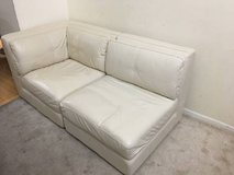 2pc Ivory Leather Corner Two Seater in Lockport, Illinois