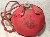 Vintage Boys Scouts Regal Metal Canteen with red cloth shoulder strap in Dover, Tennessee