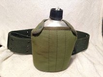 Army Military Style Canteen Water Bottle 1Q w Belt Pouch Cover Scout H in Dover, Tennessee