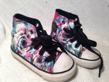 Converse All Star Tennis Shoes Girls Infant High Tops Silk Rose Patter in Dover, Tennessee