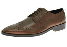 Natazzi Handmade Leather Gabbana Rosato Wingtip Shoes Brown Men 10.5 in Naperville, Illinois