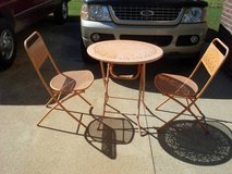 Orange Metal Patio Set in Fort Campbell, Kentucky