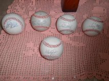 5 MLB Autographed Baseballs! Player Autographs Unknown! Lot of 5 Rawlings in Kingwood, Texas