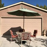 Patio Set with Umbrella and Stand in Travis AFB, California