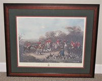 ART - THE BURY HUNT - 1840 ENGLISH AQUATINT PRINT - Professionally Matted & Framed in Batavia, Illinois