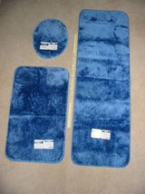 2 NEW Cannon Blue Bathroom Rugs and lid cover in Colorado Springs, Colorado