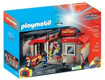 New! PLAYMOBIL Take Along Fire Station 62pc City Action Playset in Bolingbrook, Illinois