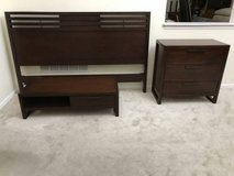 3pc Dark Cherry King Size Bed S in Chicago, Illinois