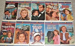 Lot of 19 Vintage 1990's Shirley Temple Collection Videos Movies VHS Fox Video Family Feature in Joliet, Illinois