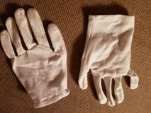 White stretchy gloves in Oceanside, California