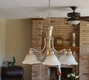 BRUSHED NICKLE KITCHEN LIGHT FIXTURE in Elgin, Illinois