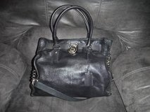 Michael Kors Hamilton Black Leather Purse Tote Handbag in CyFair, Texas