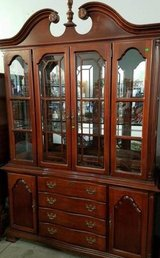 Beautiful Lighted Glass China / Curio Cabinet in Fort Lewis, Washington