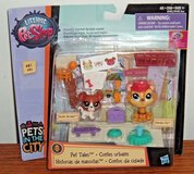 NEW Littlest Pet Shop PET TALES In The City Buster Boodles Hansamu Inu #'s 81 & 82 in Morris, Illinois