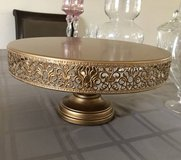 """Victoria Gold 14"""" Metal Cake Stand in Tinley Park, Illinois"""