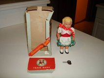 Vintage - 1950's Wind-Up Sweetheart Dancing Doll Made in West Germany in Brookfield, Wisconsin