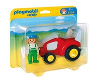 New! PLAYMOBIL 1.2.3 Tractor Vehicle w/Farmer Set #6794 in Joliet, Illinois