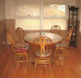 Kitchen Table and 5 Chairs - Oak Frames - Formica Top in Yorkville, Illinois