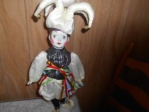 "20"" Bisque Porcelain Doll with Stand! COURT JESTER! Very Cute! in Bellaire, Texas"