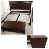 3pc Dark Cherry King Size Bed S in Westmont, Illinois