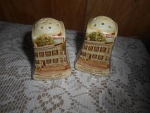 Staffordshire LINCOLN'S HOME Salt &  Pepper Shakers!  England in Spring, Texas