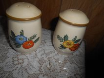 KAYMENSATEIN Floral Salt & Pepper Shaker Set! 2pc Made in Taiwan in Bellaire, Texas