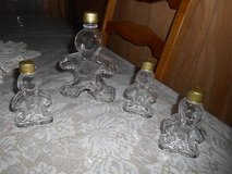 GINGERBREAD MAN Shape Clear Glass Bottles! Set of 4 in Spring, Texas