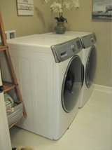 High Capacity SAMSUNG Washer and Gas Dryer - White in Glendale Heights, Illinois