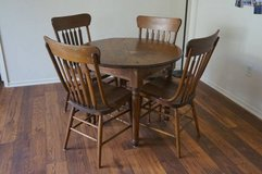 Wood Kitchen Table and Chairs in Vista, California