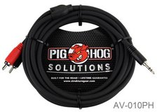 10ft Pig-Hog Stereo Breakout Cable, 3.5mm to Dual RCA in Fort Campbell, Kentucky