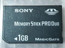 Sony 1GB Memory Stick Pro Duo Card in Fort Campbell, Kentucky