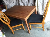 Table and chairs in Vacaville, California
