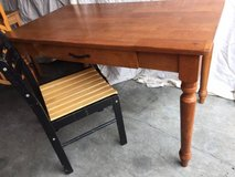 Solid maple desk table and chair in Vacaville, California